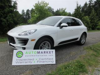 Used 2017 Porsche Macan S, NAVI, AWD, INSPECTED, BCAA MBSHP, WARRANTY AND FINANCING! for sale in Surrey, BC