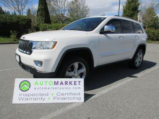 Used 2011 Jeep Grand Cherokee Overland 4WD INSPECTED, BCAA MBSHP, WARRANTY, FINANCING! for sale in Surrey, BC