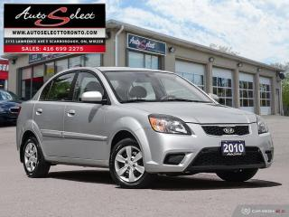 Used 2010 Kia Rio ONLY 82K! **5 SPEED MANUAL** CLEAN CARPROOF for sale in Scarborough, ON