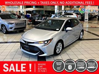 Used 2019 Toyota Corolla Hatchback SE - Accident Free / Local for sale in Richmond, BC