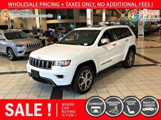 Used 2019 Jeep Grand Cherokee Limited - No Accident / Local / Nav for sale in Richmond, BC
