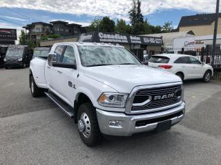 Used 2018 RAM 3500 MegaCab Longhorn 6.7L CUMMINS DIESEL 6 SPD AUTO for sale in Langley, BC