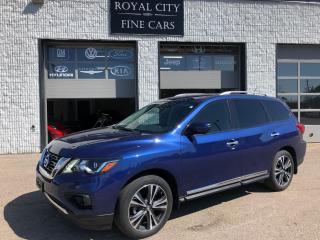 Used 2017 Nissan Pathfinder Platinum 4x4 One Owner Dual DVD Loaded for sale in Guelph, ON