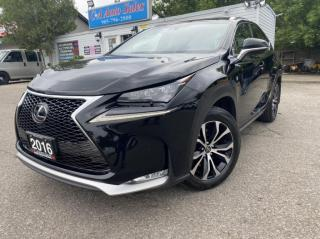 Used 2016 Lexus NX 200t AWD 4dr F SPORT LEVEL 3 *ACCIDENT FREE *RED LEATHER for sale in Brampton, ON