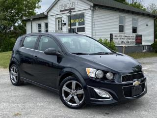 Used 2014 Chevrolet Sonic 1-Owner No-Accidents RS TURBO Sunroof Backup Cam Bluetooth for sale in Sutton, ON