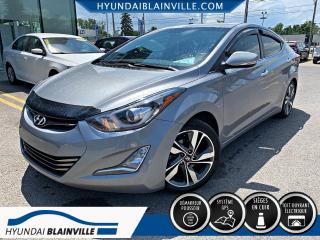 Used 2016 Hyundai Elantra LIMITED NAVIGATION, CUIR, TOIT OUVRANT, for sale in Blainville, QC