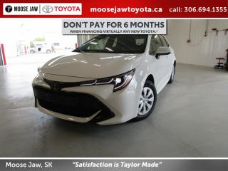 New 2020 Toyota Corolla Hatchback CVT for sale in Moose Jaw, SK
