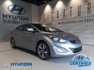 Used 2015 Hyundai Elantra LTD+CUIR+GPS+CAMERA+TOIT+DEMARREUR for sale in Sherbrooke, QC