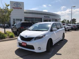 Used 2016 Toyota Sienna SE 8 Passenger SE 8-PASSENGER PACKAGE - NO ACCIDENTS - BACKUP CAMERA for sale in Stouffville, ON