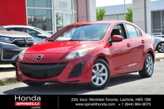 Used 2010 Mazda MAZDA3 GX BERLINE BAS KM AUTO AC VITRES ELECTRIQUES for sale in Lachine, QC