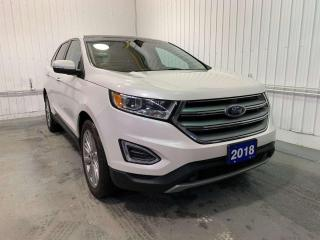 Used 2018 Ford Edge TITANIUM w/HEATED AND COOLED LEATHER, PANORAMIC ROOF, NAVIGATION for sale in Huntsville, ON