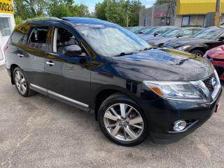 Used 2014 Nissan Pathfinder PLATINUM/ 4WD/ LEATHER/ PANO ROOF/ NAVI/ CAM/ DVD! for sale in Scarborough, ON