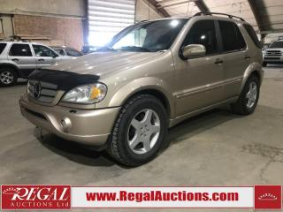 Used 2002 Mercedes-Benz ML-Class ML55 AMG 4D UTILITY AWD for sale in Calgary, AB