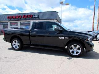 Used 2016 RAM 1500 Sport Quad Cab 5.7L Hemi 4WD Navi Camera Certified for sale in Milton, ON