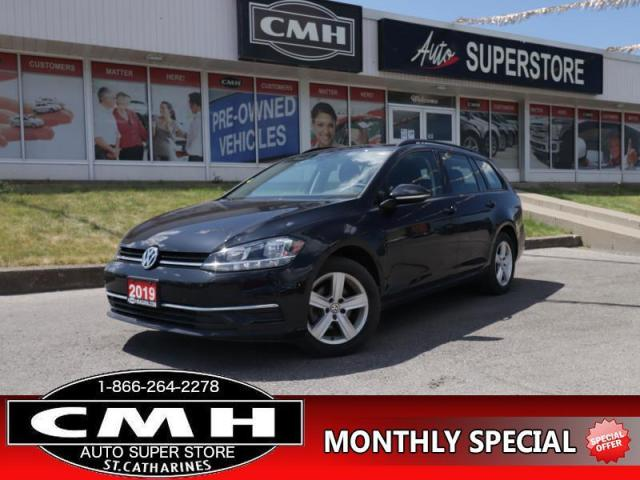 2019 Volkswagen Golf Sportwagen Comfortline DSG 4MOTION  AWD CAM BT HTD-SEATS APPLE-PLAY 16-AL