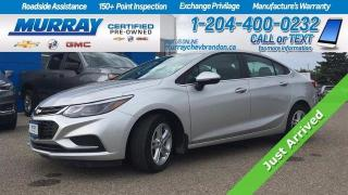 Used 2017 Chevrolet Cruze *Bose Speakers* Remote Start* Heated Seats* Backup for sale in Brandon, MB