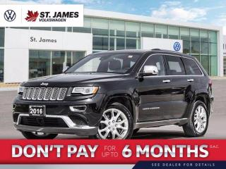 Used 2016 Jeep Grand Cherokee Summit Clean CarFax, Heated Seats, Air Suspension for sale in Winnipeg, MB