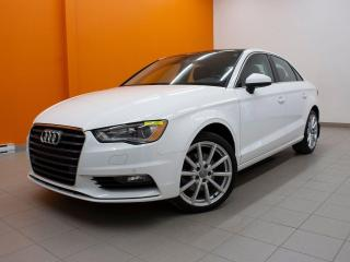 Used 2016 Audi A3 2.0T TECHNIK QUATTRO TOIT NAV CUIR *BAS KM* for sale in St-Jérôme, QC