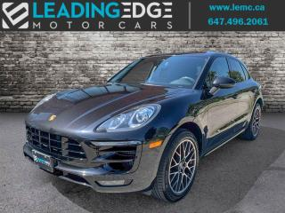Used 2016 Porsche Macan Turbo Premium Package Plus, Navigation, Carbon Fibre Trim, Bose for sale in Woodbridge, ON