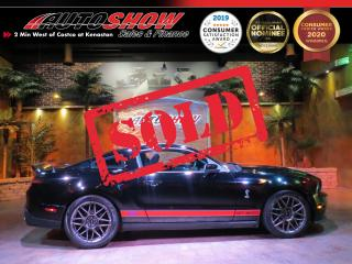 Used 2011 Ford Mustang Shelby GT500 *Supercharged, 6-Speed, LOW K* for sale in Winnipeg, MB
