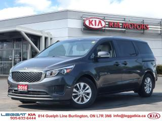 Used 2016 Kia Sedona LX | B/U CAM | CRUISE CONTROL | BLUETOOTH | for sale in Burlington, ON