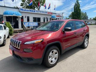 Used 2016 Jeep Cherokee Sport-4X4-REAR VIEW CAMERA-ACCIDENT FREE for sale in Stoney Creek, ON