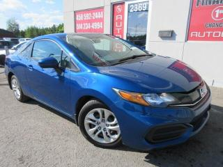 Used 2014 Honda Civic EX COUPÉ A/C GROUPE ÉLECTRIQUE MAGS for sale in St-Jérôme, QC