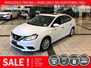 Used 2019 Nissan Sentra SV - Accident Free / Local / Sunroof for sale in Richmond, BC