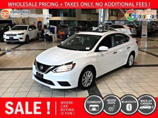 Used 2019 Nissan Sentra SV - No Accident / Local / Sunroof for sale in Richmond, BC