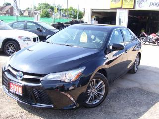 Used 2016 Toyota Camry SE,LOW KM'S,HYBRID,NEW TIRES & BRAKES,NO ACCIDENT for sale in Kitchener, ON