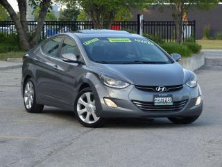Used 2013 Hyundai Elantra LTD,LEATHER,NAVIG,REAR-CAM,TOP OF LINE,NO-ACCIDENT for sale in Mississauga, ON
