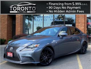 Used 2015 Lexus IS 250 AWD F-Sport series 2 NAVI Blind Spot BackUp Camera LOW KM! for sale in North York, ON