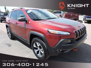 Used 2015 Jeep Cherokee Trailhawk | Leather Seats | Navigation | Sunroof | Back-up Camera | Remote Start for sale in Weyburn, SK