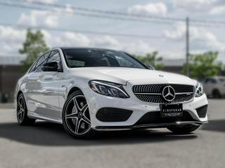 Used 2017 Mercedes-Benz C-Class AMG C 43 I Premium LED I Loaded I White on Red for sale in Toronto, ON