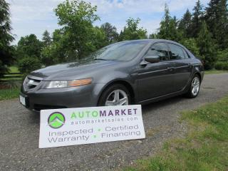 Used 2006 Acura TL PREMIUM, AUTO, INSP, FREE BCAA MBSHP, FREE WARRANTY AND FINANCING! for sale in Surrey, BC