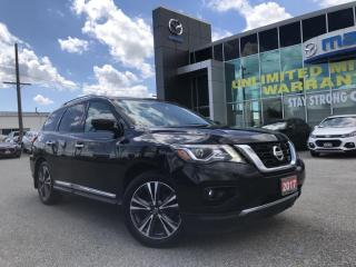 Used 2017 Nissan Pathfinder Platinum AWD with rear DVD for sale in Chatham, ON
