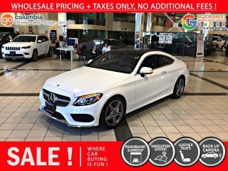 Used 2018 Mercedes-Benz C-Class C 300 4MATIC Coupe - No Accident / Local / Nav for sale in Richmond, BC