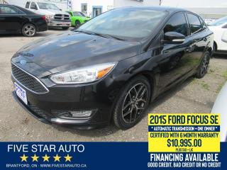 Used 2015 Ford Focus SE *One Owner* Certified w/ 6 Month Warranty for sale in Brantford, ON