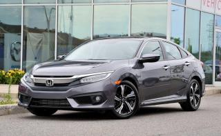 Used 2016 Honda Civic DEAL PENDING Touring BAS KM NAVI CUIR TOIT CUIR*TOIT*MAGS*1.5TURBO*GPS*CRUISE*BLUETOOTH*SIEGES CHAUFFANTS AVANT/ARRIERE*++ for sale in Lachine, QC