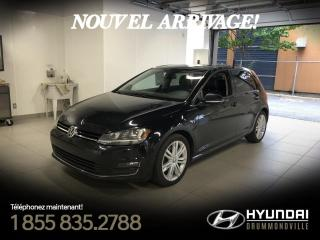 Used 2015 Volkswagen Golf 1.8 TSI HIGHLINE + GARANTIE + NAVI + CUI for sale in Drummondville, QC