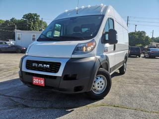 Used 2019 RAM Cargo Van ProMaster 2500 High Roof 136  WB | Bluetooth | Backup Cam for sale in Waterloo, ON
