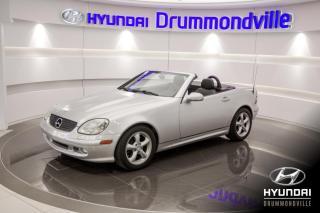 Used 2002 Mercedes-Benz SLK 320 A/C + JAMAIS SORTIE L'HIVER + WOW! for sale in Drummondville, QC