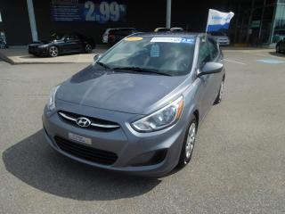 Used 2016 Hyundai Accent HB Man GL,A/C,CRUISE,BANC CHAUFFANT for sale in Mirabel, QC