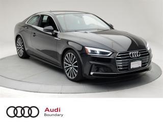 Used 2018 Audi A5 2.0T Technik quattro 7sp S Tronic Cpe Loaded with Features for sale in Burnaby, BC