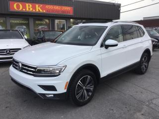Used 2018 Volkswagen Tiguan Highline 4MOTION-CUIR-TOIT-NAV-CAM RECUL-BLUETOOTH for sale in Laval, QC