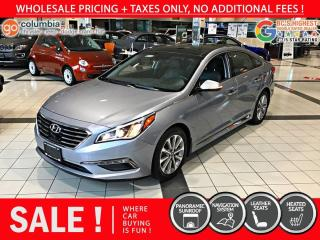 Used 2016 Hyundai Sonata 2.4L Limited - Local / Nav / Leather for sale in Richmond, BC