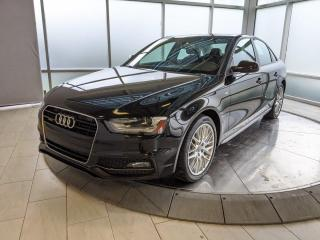 Used 2015 Audi A4 S-LINE QUATTRO AWD - REMOTE STARTER! for sale in Edmonton, AB