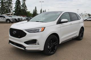 New 2020 Ford Edge ST 401A | 2.7L V6 AWD | Wireless Charging Pad| Power Heated/Cooled Leather Seats | Panormaic Roof| Heated Rear Seats | Heated Steering Wheel | Pre-Collision Assist | Reverse Camera System | for sale in Edmonton, AB