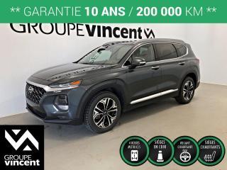 Used 2019 Hyundai Santa Fe ULTIMATE AWD 2.0T ** GARANTIE 10 ANS ** À qui la chance, vus récent et tout équipé à bas kilométrage! for sale in Shawinigan, QC