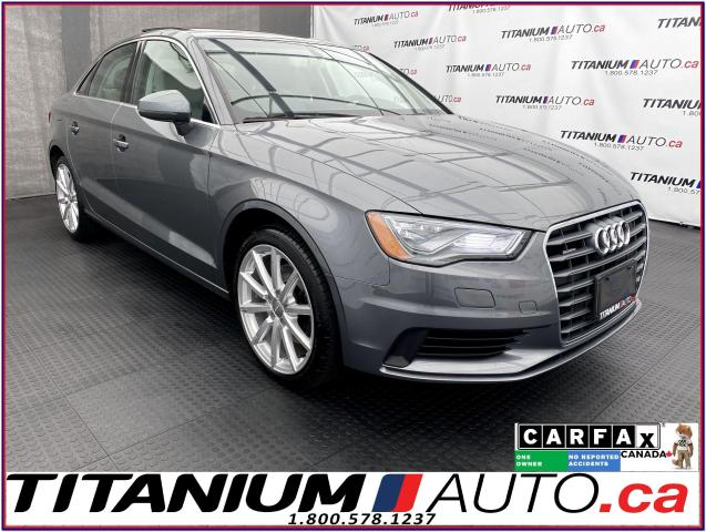 2016 Audi A3 Quattro+GPS+Camera+Pano Roof+LED Lights+Progressiv